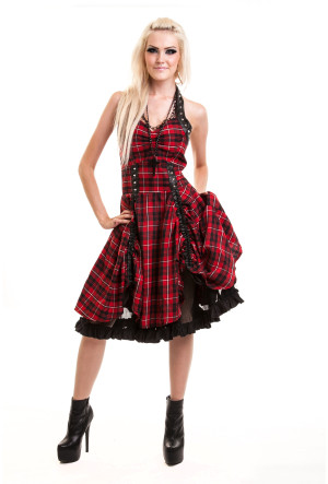 Radiance-Dress-Red-Check-Vixxsin-2