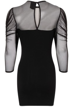 n1270-lyssa-ruched-mesh-goth-mini-dress-back
