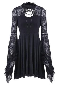 DW210-Dark-In-Love-Black-Lace-Sleeve-Dress-1