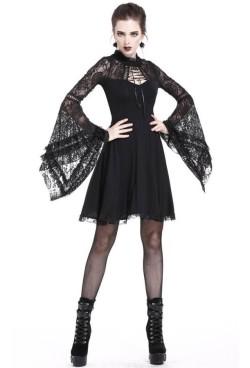 DW210-Dark-In-Love-Black-Lace-Sleeve-Dress-3